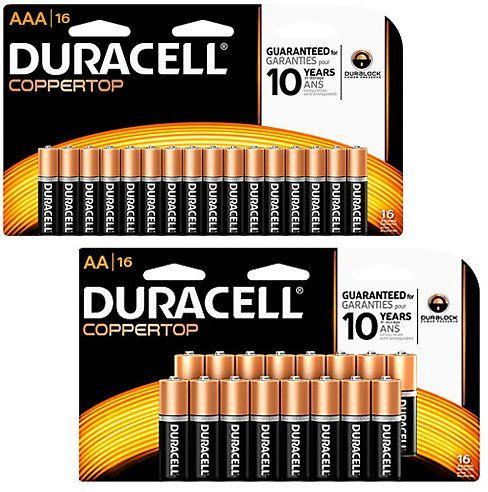 Duracell Coppertop Aa Alkaline Batteries 16pack