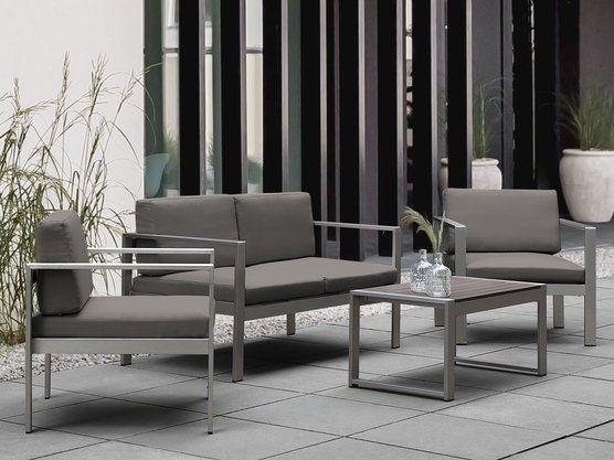 Aluminium Gartenmobel Set Dunkelgrau Sitzgruppe Sukon Arte Home Gartensofa Wohn Design Mobelideen