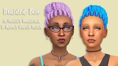 http://mysims4blog.blogspot.lt/2015/12/braided-pigtails-bun-and-braids.html