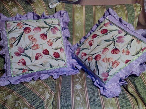 Cuscini artigianali stile Provenza mia creazione da una generazione  , 60x60 imbottitura pura lana vergine
