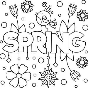 Cheery June Coloring Page Printable Thrifty Mommas Tips Preschool Coloring Pages Spring Coloring Sheets Spring Coloring Pages