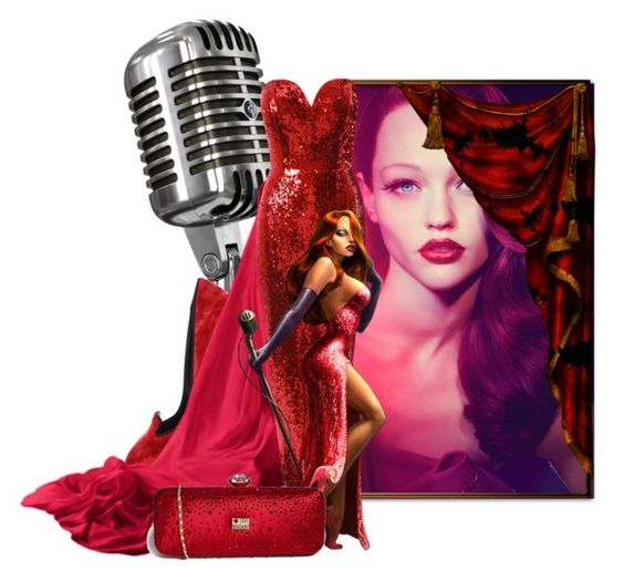 """""""The Real Jessica Rabbit"""" by the-house-of-kasin ❤ liked on Polyvore featuring Dolce&Gabbana, Jane Norman, Love Moschino and gownsgalore"""
