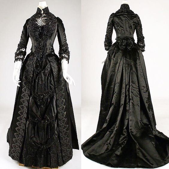 """""""Mourning dress, American, ca. 1887. Metropolitan Museum of Art ❤️❤️❤️"""""""