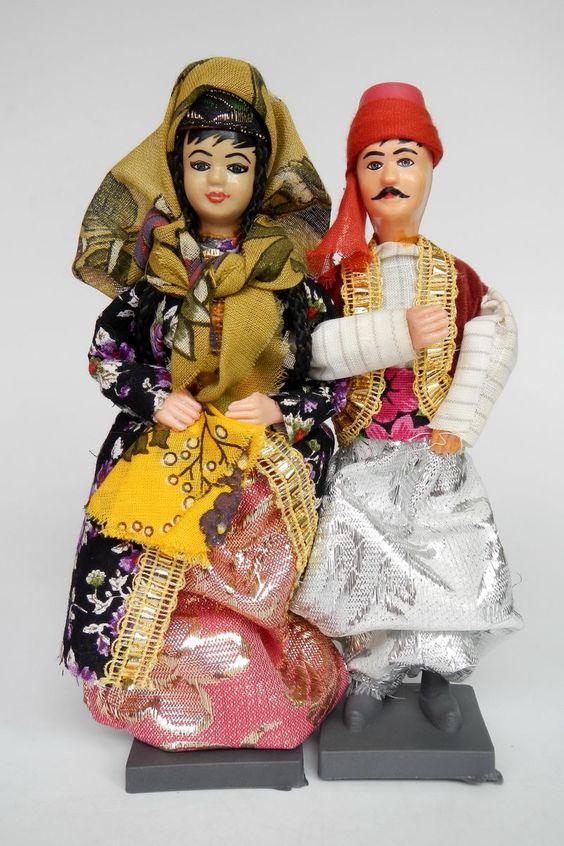 Turkey Dolls Pair Ottoman  -