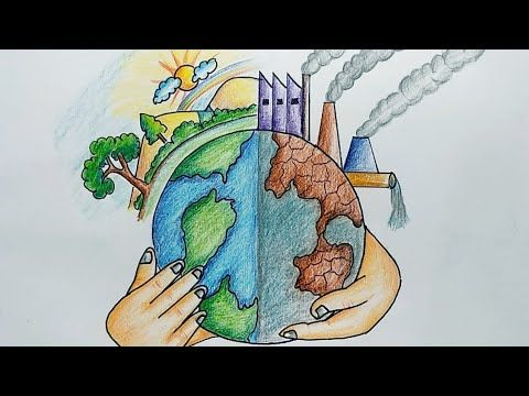 Drawing Book Youtube Earth Day Drawing Earth Drawings Save Earth Drawing