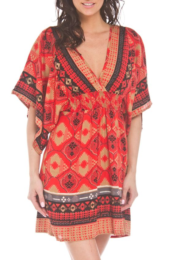 Lola P Veronica Tunic in Red - Beyond the Rack $24.99