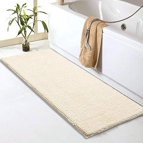 Sheepping Chenille Bathroom Rugs Runner 59 X 20 Anti Slip Long Bath Mat Extra Soft Absorbent And Machine Washable Shaggy Chenille Noodle Bath Rugs For Ba Bathroom Runner Rug Chenille Bathroom Rugs Bathroom