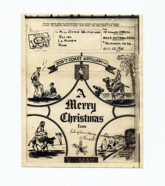 World War 2 Christmas Card Soldier Military by AnnesAccumulations