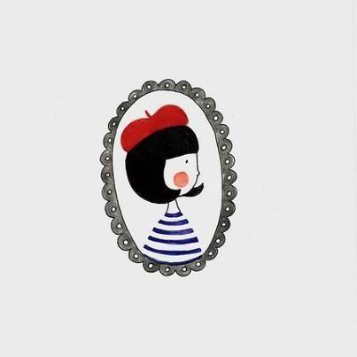 French Girl Illustration