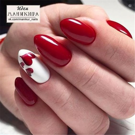 50 Trendy Acrylic Nail Designs For Valentine S Day Nail Designs Valentines Valentine Nail Art Heart Nails