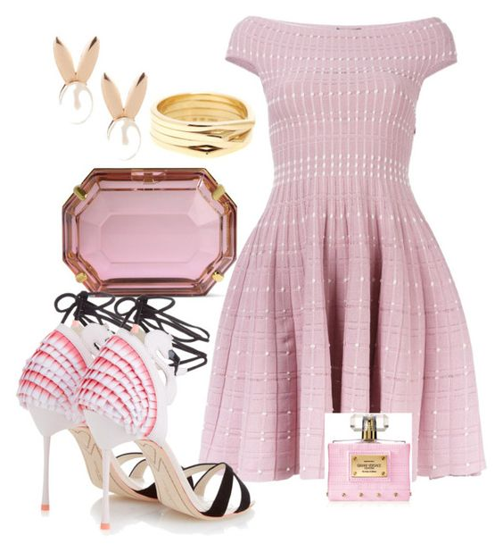 """Pink every day♡"" by ahumadarosy on Polyvore featuring Aamaya by priyanka, Alexander McQueen, Charlotte Olympia, Repossi, Versace and Sophia Webster"
