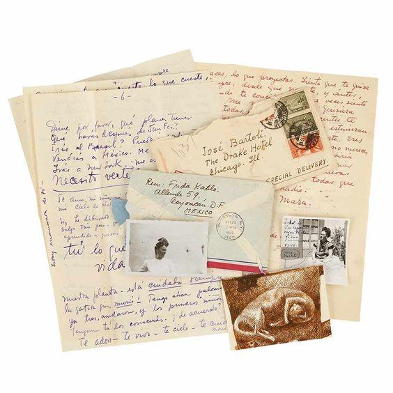 Cartas de amor de Frida Kahlo para amante espanhol vão a leilão em Nova Iorque +http://brml.co/1NK0CzW