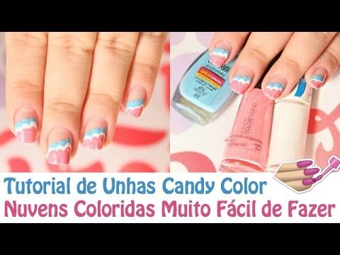 Unhas Decoradas Com As Cores 2016 (Rose Quartz e Serenity) Nail Art Colo...