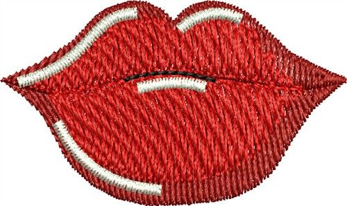 Lips Embroidery Design Embroidery Designs Embroidery Design