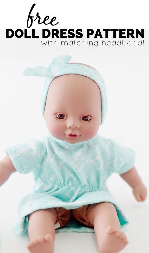 Free Baby Doll Dress Pattern With Matching Headband