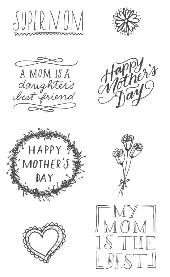 Muttertag Ideen | #mothersday #muttertag #illustrations:
