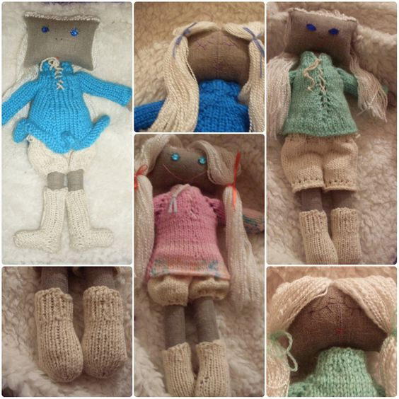 Двухсторонние текстильные куклы: