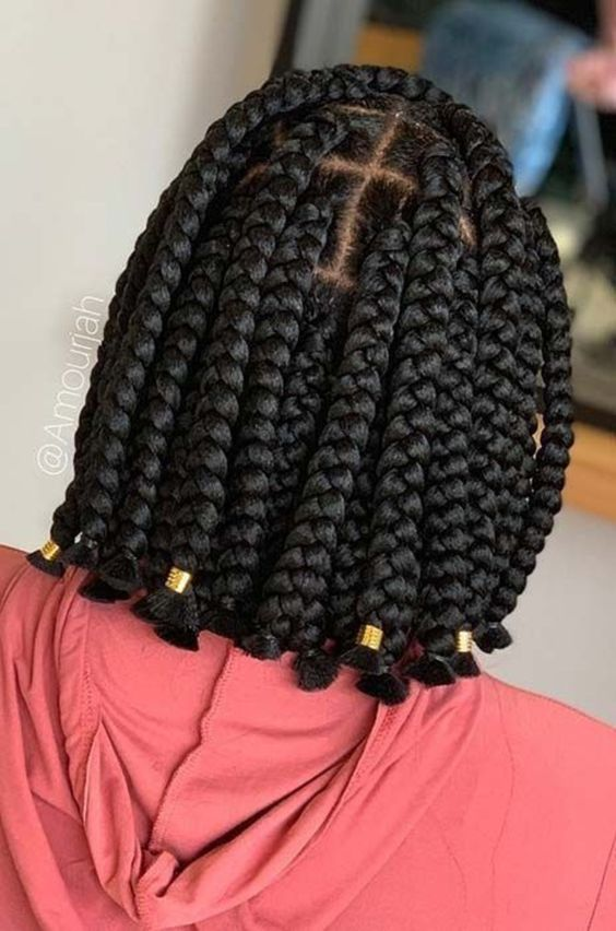 2021 Box Braids Hairstyles: Braided Bob