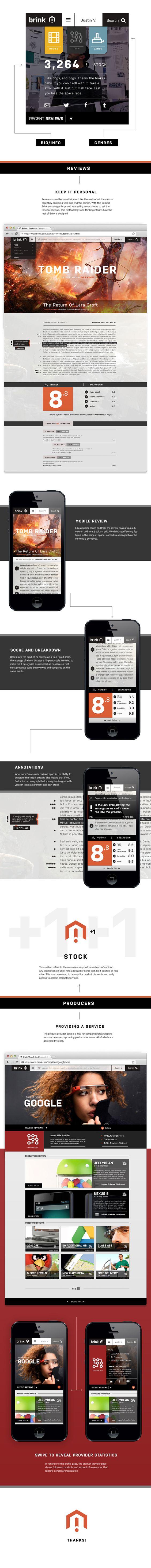 Brink | Designer: Justin Vachon #desin #webdesign #website #clean #designer #inspiration #concept