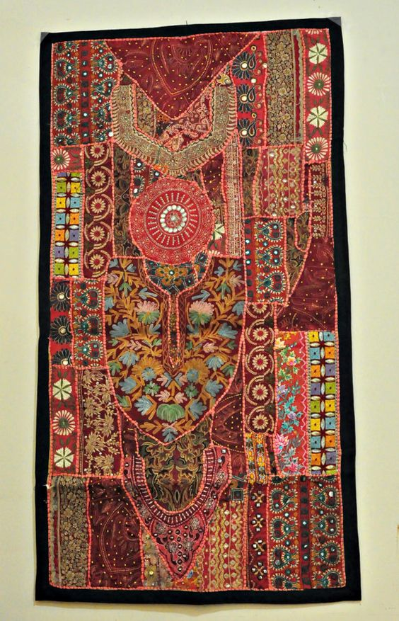 Wall Hanging Tapestry Table Runner Wall Decor Patchwork