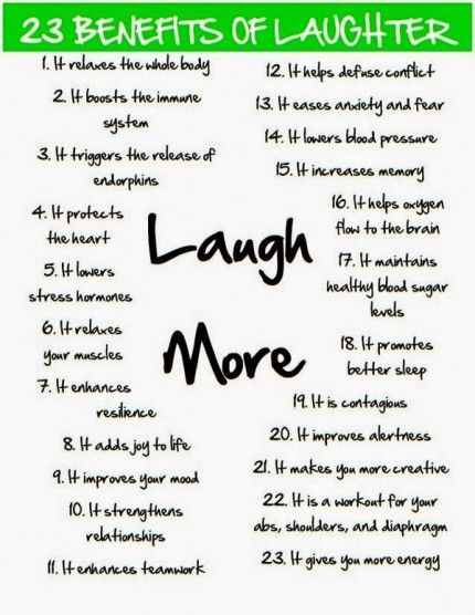 Laughter - The Best Medicine - 23 Benefits of Laughter: