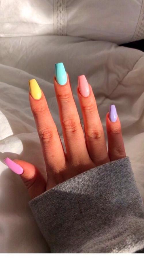 Nail Designs In 2020 Pastel Nails Designs Acrylic Nails Coffin Short Makeup Nails Designs