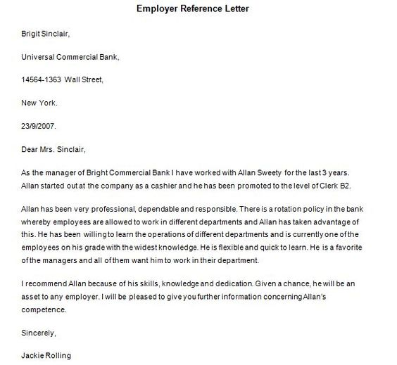 Personal Reference Letter Samples  Templates  Projects To