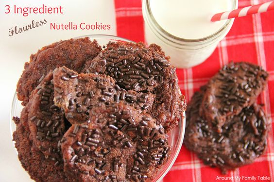 Nutella Cookies: Cookies Yumyumyumyumyum, Food Recipes, Celiac Recipes, Dessert Recipes, Delectable Desserts, Recipes Desserts, Nutella Recipes, Nutella Cookies, Cakes Pies Bars Desserts