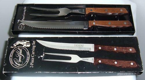 Vintage Carvel Hall 2PC Carving Knife Set Hi-Stainless Steel #CarvelHall