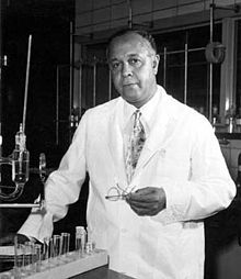 April 8, 1990 Percy Julian, developer of drugs to combat glaucoma and methods to mass produce cortisone and George Washington Carver are the first African American Inventors admitted into the National Inventors Hall of Fame in the hall's 17-year history.