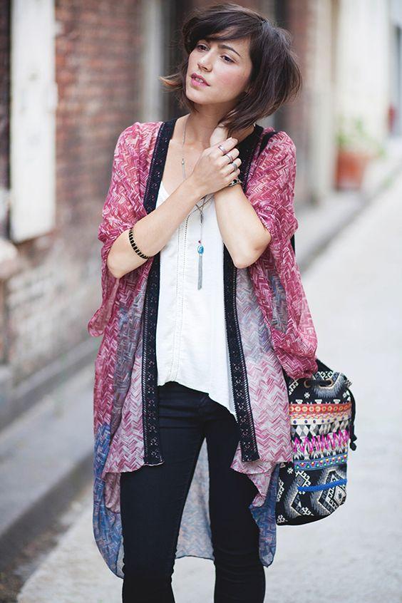 kimono e básico