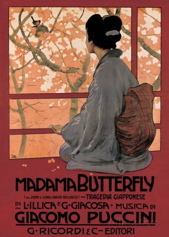 Madam Butterfly (G. Puccini) - Vintage Style Opera Poster Poster - bei AllPosters.ch