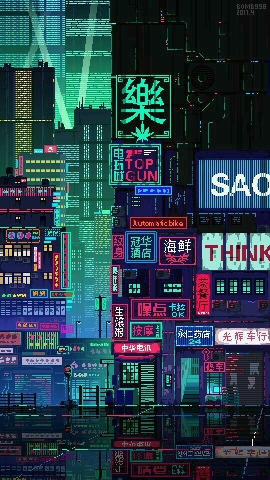 Wallpapers 8 Bits De Like Pixel City Pixel Art Aesthetic