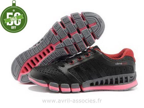 Officiel Adidas 2016 - Adidas Climacool 5 Amants Chaussures Noir Semelle Rose (Adidas Superstar Pas Cher)