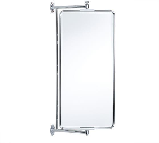 Vintage Rounded Rectangular Swivel Mirror Mirror Diy Bathroom Decor Bathroom Decor