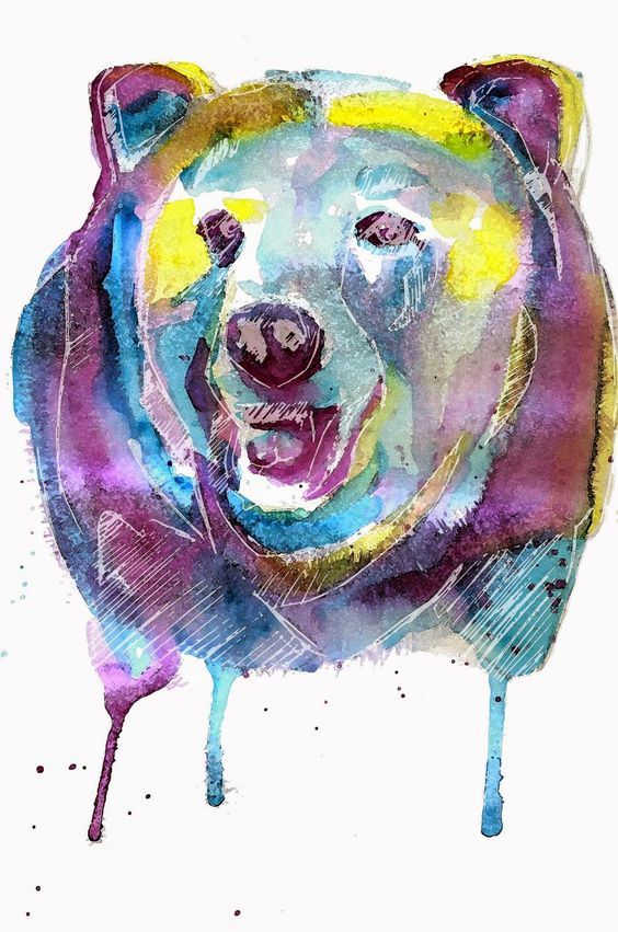 Mauro Vila Real: Bear in watercolor