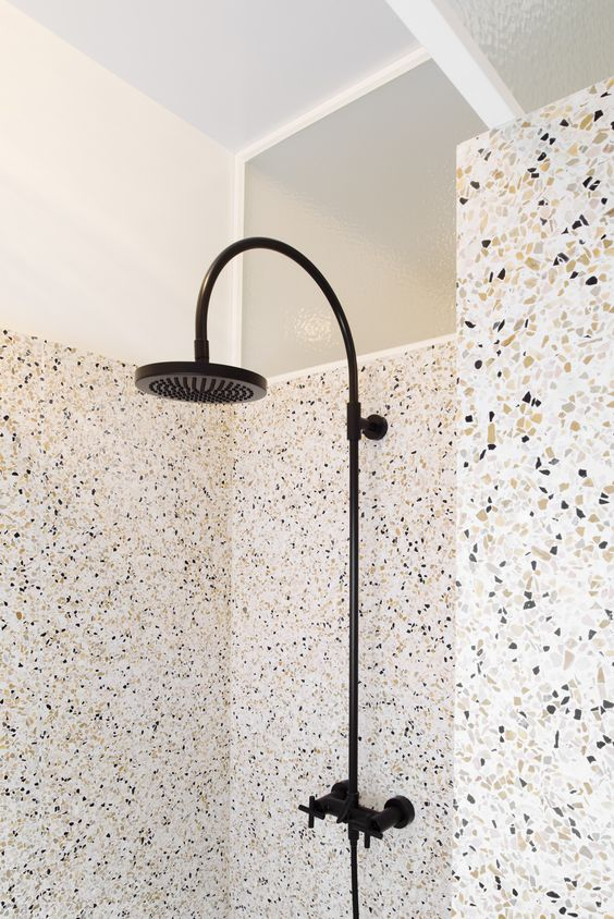 terrazzo showers #design  There are many applications you can use with terrazzo, including this terrazzo shower.  www.doyledickersonterrazzo.com: