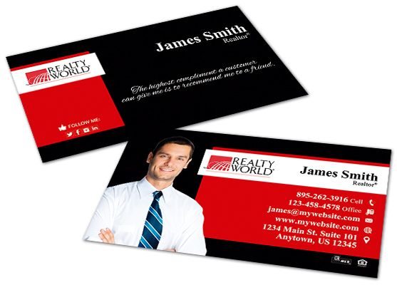 Realty World Business Cards Realty World Business Card Templates Keller Williams Business Cards Realtor Business Cards Business Cards Online