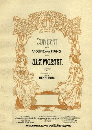 Mozart, Wolfgang Amadeus : Concerto No. 6 in Eb Major, K. 268, Edited by Henri Petri