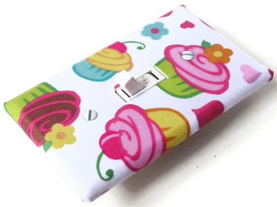 CUPCAKES Switchplate Light Switch Plate Outlet Cover  by smijims, $8.00 #boebot #shopetsy #etsysns