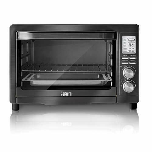 Details About Bialetti 35047 6 Slice Convection Toaster Oven Black Stainless Steel In 2020 With Images Convection Toaster Oven Stainless Steel Oven Toaster