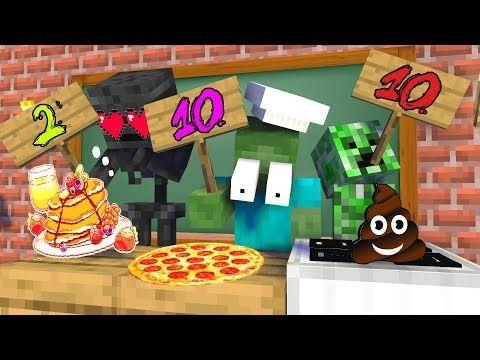 Monster School Became Cooking Challenge Minecraft Animation Youtube In 2021 Monster School Animation Cooking Challenge