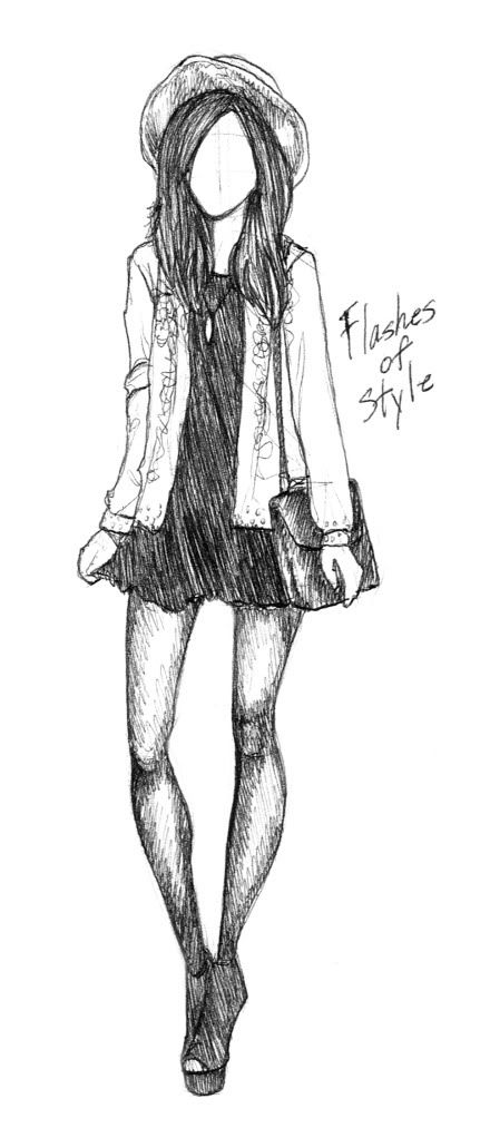 Flashes of Style: 'Flashes of Style' Fashion Sketch by Rachel Nhan