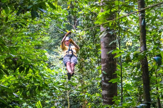 guy zip lining osa palmas canopy tour Las Palmas, near Puerto Jimenez Osa Peninsula #fun #zipline #costarica