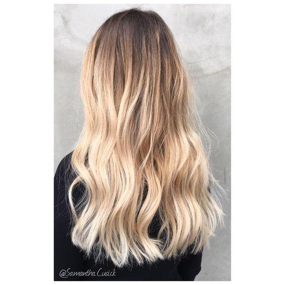 Samantha Cusick on Instagram \u201c\u2022 B A L A Y A G E \u2022 Creamy blonde balayage ombré