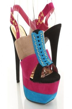 Love the color blocking on these shoes...