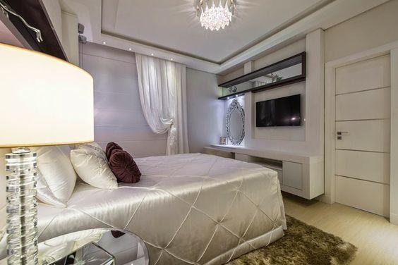 Diferentes formas de usar TV no quarto (ou em outros ambientes) - veja modelos e dicas! - Decor Salteado - Blog de Decoração e Arquitetura