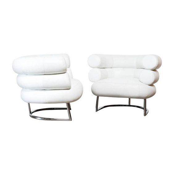 Image of Eileen Gray Classicon Bibendum Chairs - A Pair