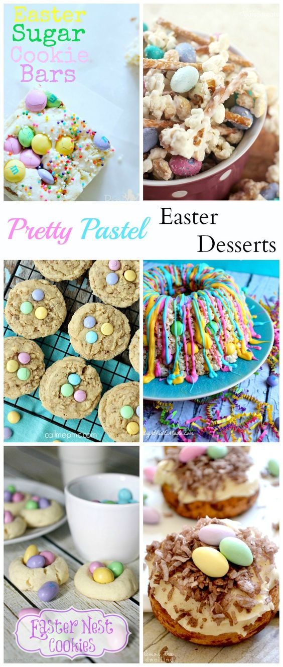 Pretty Pastel Easter Desserts - #easter