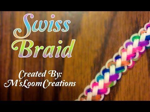 NEW Swiss Braid Rainbow Loom Bracelet Tutorial | How To - YouTube